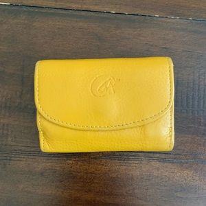 Yellow Italian Leather Mini Wallet